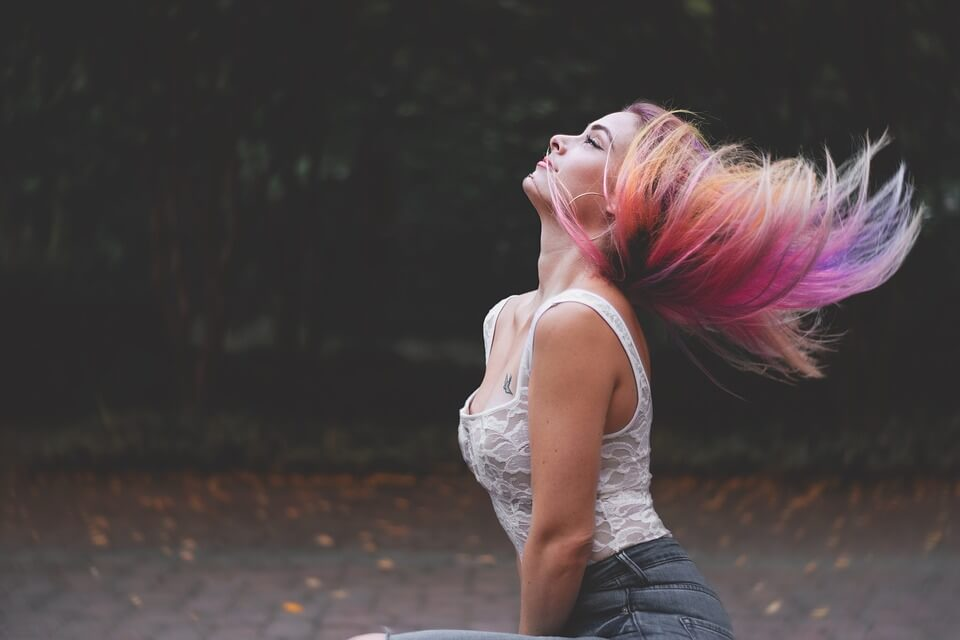 Special effects hair dyes